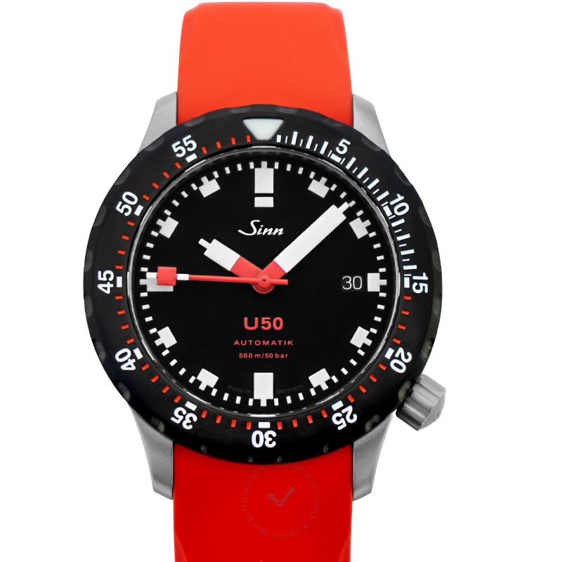 Sinn Diving Watches 1050.040-Silicone-LFC-Red