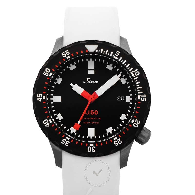 Sinn Diving Watches 1050.050-Silicone-White